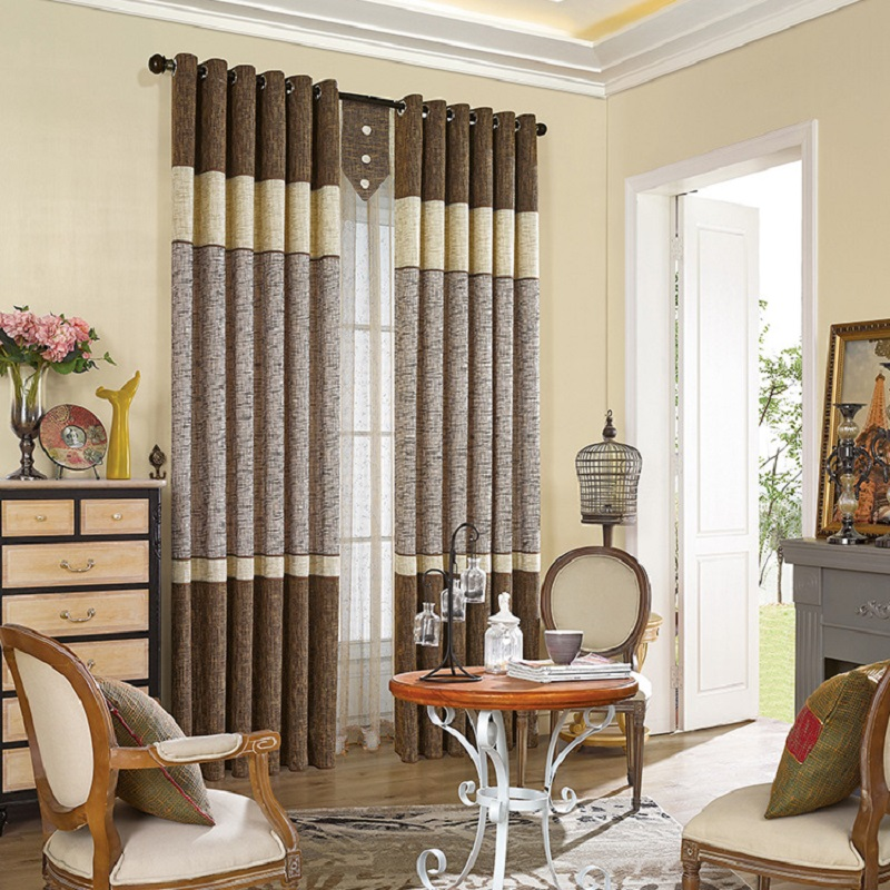 Sale Style High Grade Italy Cotton Stitching Finished Curtains Window  Curtain