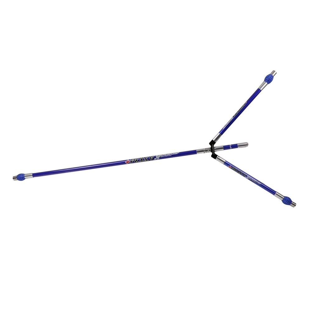 Archery split joint competition recurve bow stabilizer portable carbon composite shock proof poles 1pc