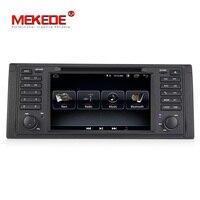 Низкая цена MEKEDE android 8,1 система авто радио gps навигации dvd плеер для BMW 5 серии E39 X5 E53 с BT WI FI RDS FM