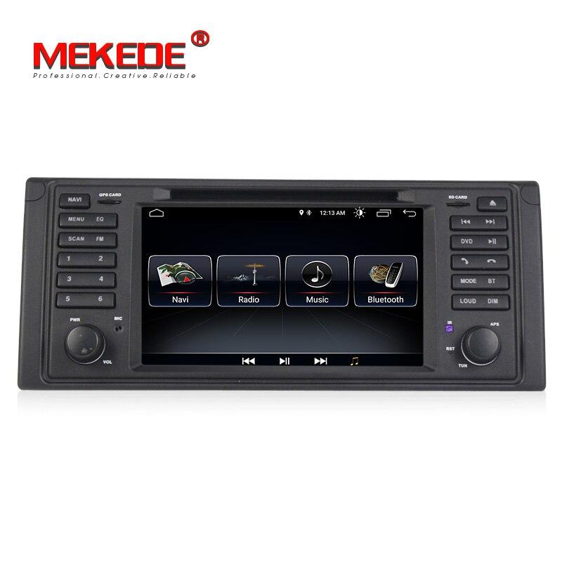 Menor preço MEKEDE android 8.1 Auto sistema de navegação gps rádio do carro dvd player para BMW série 5 E39 X5 E53 com a BT WIFI FM RDS