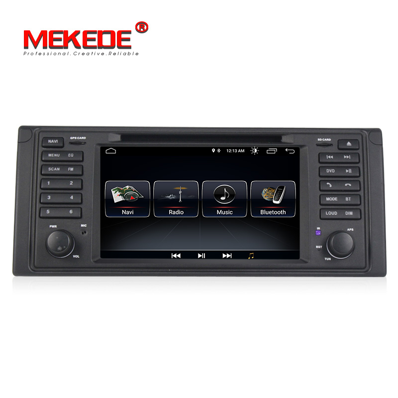 O mais baixo preço mekede android 8.1 sistema de rádio do carro automático navegação gps dvd player para bmw série 5 e39 x5 e53 com bt wifi rds fm