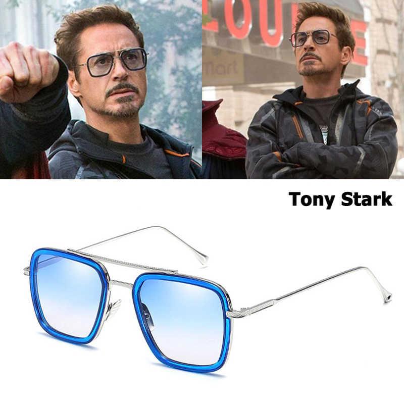 2018 Square Sunglasses Men Women Flight 006 Style Tony Stark Aviation Brand Sun Glasses Frames Oculos Gafas