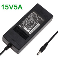75 W Ac Adapter Oplader universele ac adapter laptop Supply Stroombron 15V5A 5.5*2.5 Connector