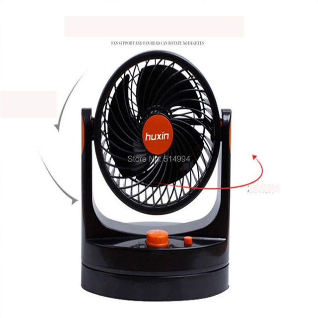 New Arrival car auto cooler fan12V 360 Degree Adjustable Strong Wind Mini Electric Fan for Car Blue/Black