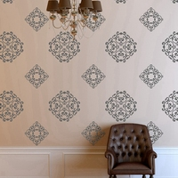 Damask Print Vinyl Wall Decal Classic Medallions 24 Graphics Vinyl Wall Graphics Damask Print Wallpaper Stickers