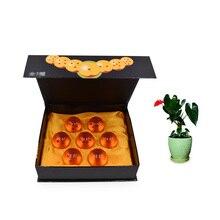 7 pcs/set Anime Dragon Ball 3.5 cm Dragonball Orange Stars Crystal  PVC Doll Model Toy Christmas Gift For Children