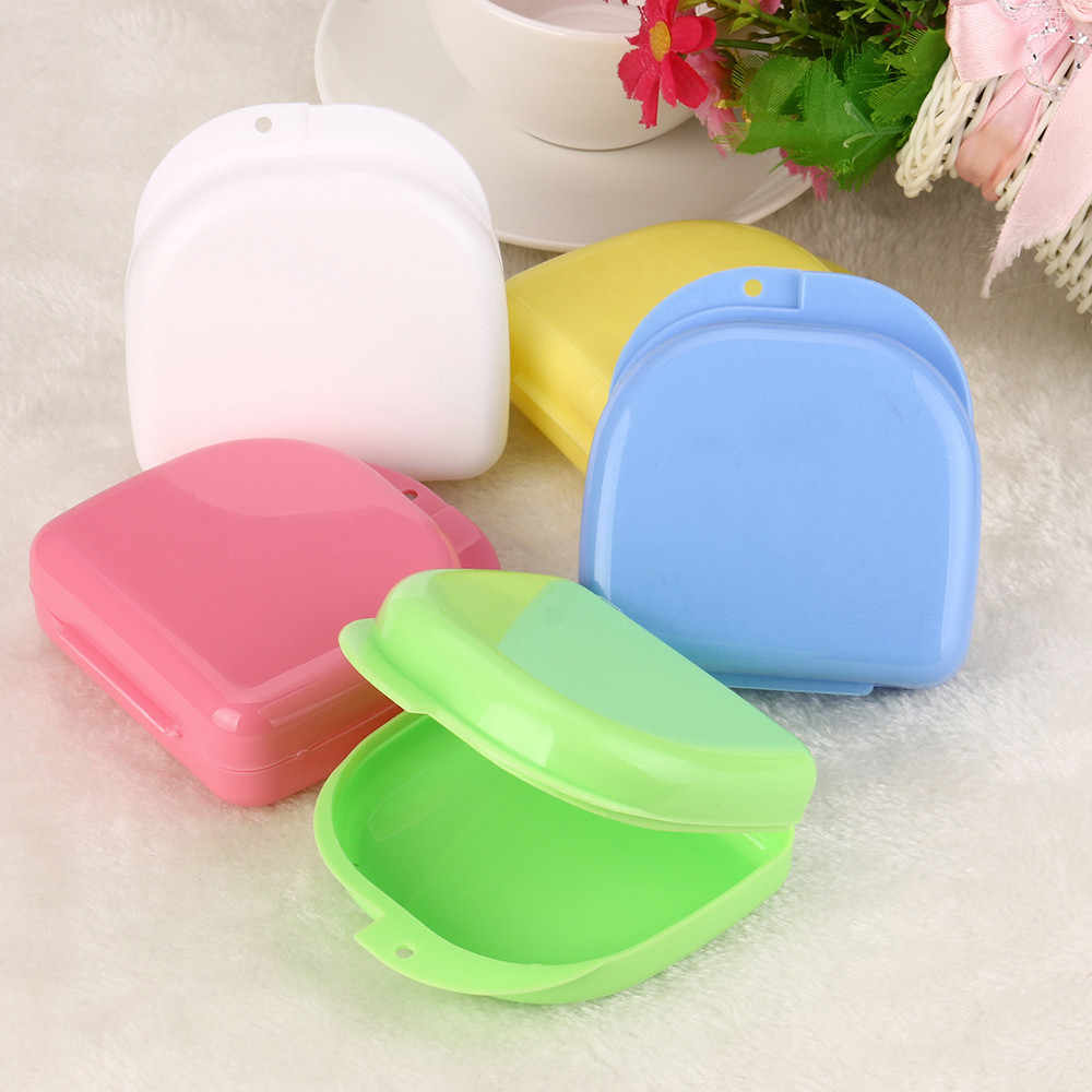 veneers equipment tools Denture Bath Box Case Dental False Teeth Appliance Container Storage Boxes Dentu random color 10
