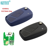 OkeyTech 434MHz PCF7946 Chip Good Quality Flip Remote Key 3 Buttons for Fiat Punto Ducato Stilo Panda Central Free Shipping