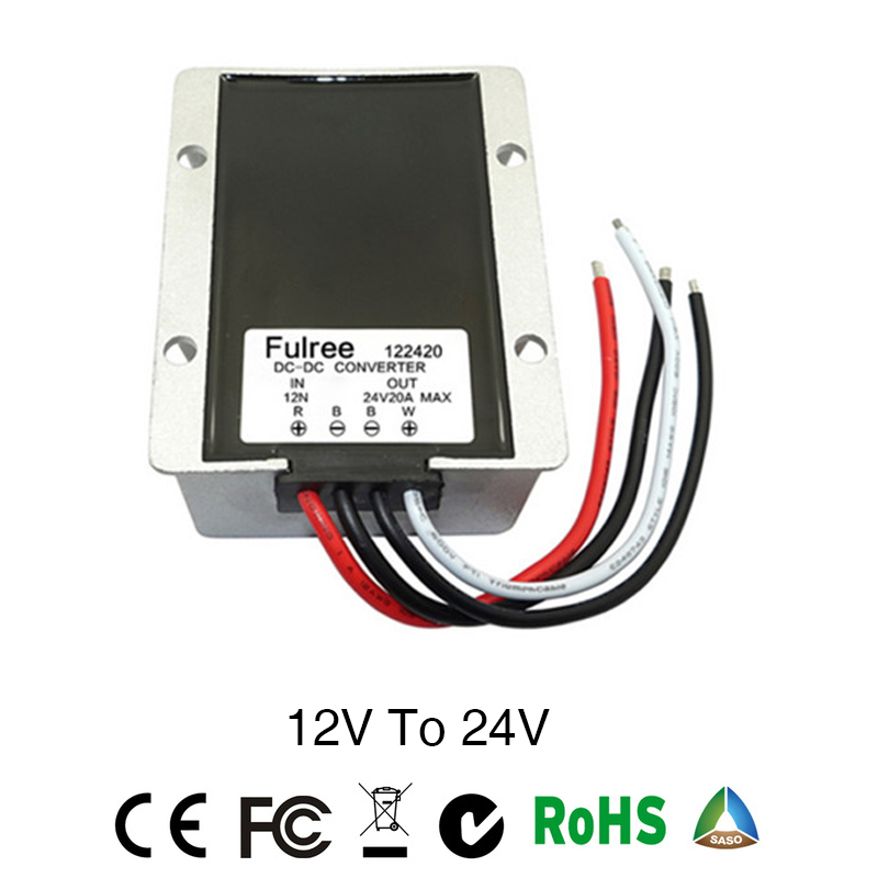 Power Converter DC/DC Step-up 12V to 24V 20A Waterproof Control Car Module Low Heat Auto Protection inverter converter ac dc step down converter module for vehicle char module 24v to 12v 8a waterproof control car module low heat auto protection