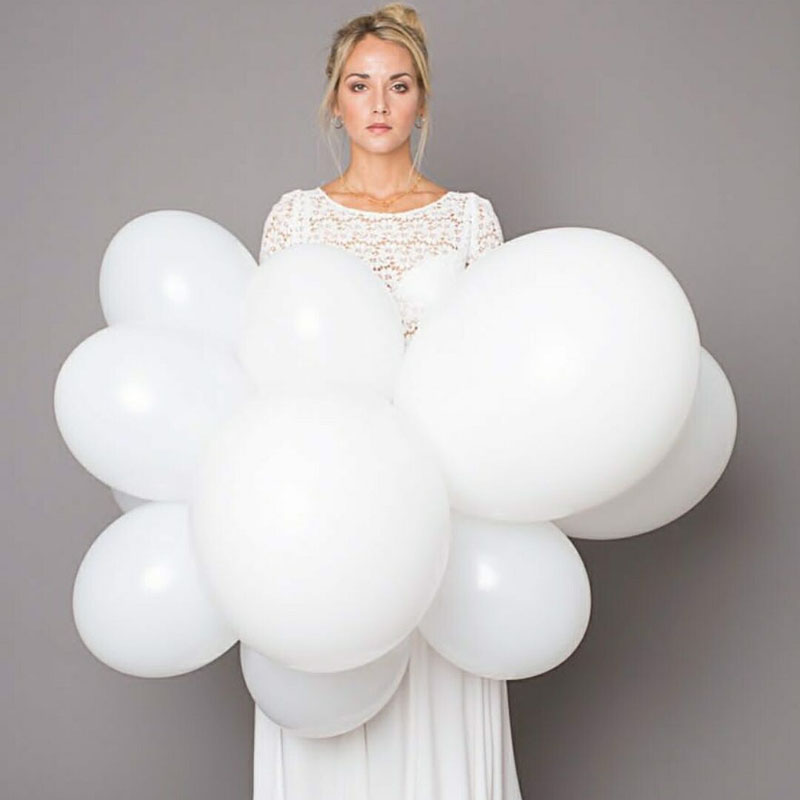 20pcs 2.3g White Latex Balloons 10inch Thicken Happy Birthday Party Decoration Wedding Love Party Ballons Matte Color Globos