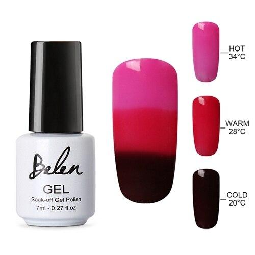 Belen Thermal Color Changing Nail Gel Polish Soak Off UV LED Gel Lacquer Polish Chameleon LED UV Gel Lak Gel Varnish Gelpolish