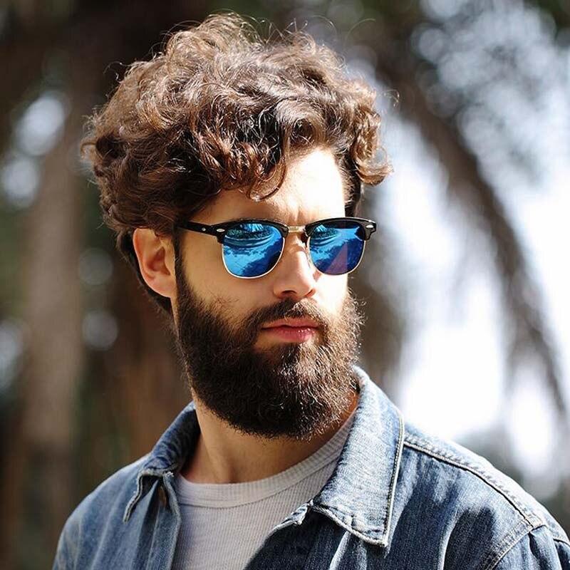"""""""Vintage"""" akiniai nuo saulės, moteriški dizaineriai, turintys pusrėmelius poliarizuotus saulės akinius, mada Lady akiniai nuo saulės aukščiausios kokybės vairavimas UV400 3016"""
