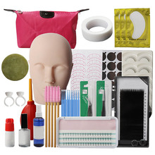 купить New arrival Eyelash grafting tool set False Eyelashes Extension Practice Exercise Kit Makeup Tools Kit дешево