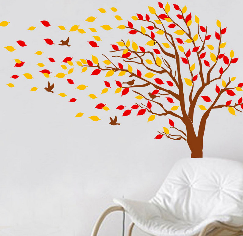 Aliexpress Com Buy Autumn Tree Falling Leaves And Flying