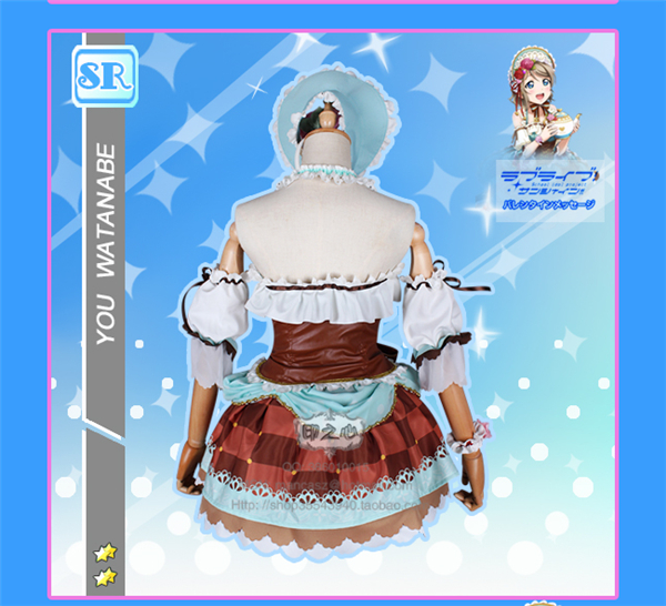 Anime Love Live Sunshine Watanabe You Aqours Cosplay Costume Maid