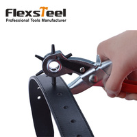 Flexsteel 8 5 215MM Leather Hole Punch Plier For Belts Paper Card Custom Punching With Multi