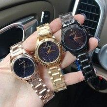 Las mujeres Vestido de Relojes de Oro Rosa Relojes de Diamantes De Cristal Lleno de Lujo de Las Mujeres Relojes Mujer Relojes de Cuarzo reloj de mujer 2016