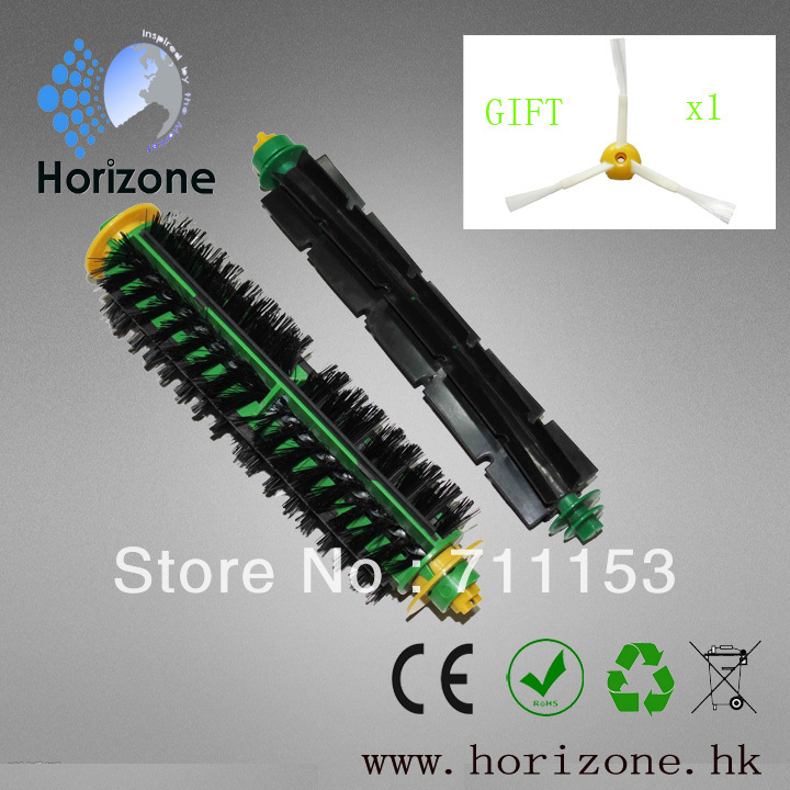 1 Set Bristle Brush and Flexible Beater Brush For iRobot Roomba 500 560 510 550 570 580 Vacuum Cleaner free shipping 655488 001 for hp pavilion dv7 dv7 6000 dv7t motherboard 6770 2g all functions 100% fully tested