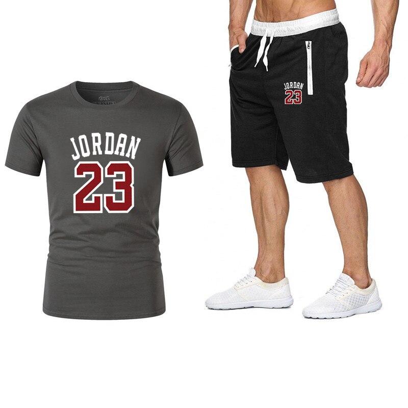 New Fashion Sportsuit And Tee Shirt Set Mens T Shirt Shorts + Short Pants Men Summer Tracksuit Men Casual Brand Tee Shirts 2019