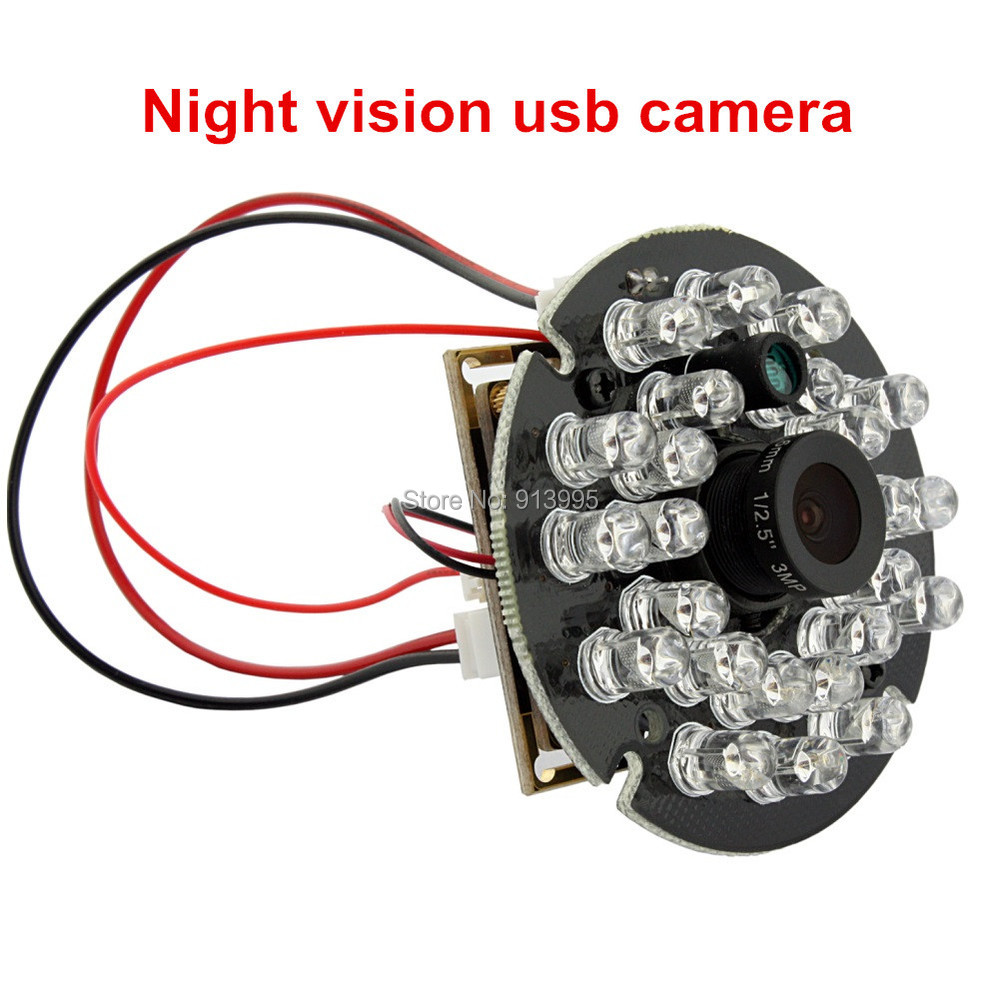 ELP1.0 Megapixel 720P 2.8mm Lens CMOS OV9712 H.264 /MJPEG HD Mini Night Vision IR CUT Infrared Camera Module USB With Microphone