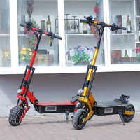 Scooter électrique puissant de la grande vitesse 95 km/h de Longboard de planche à roulettes de route de Scooter électrique adulte de 5000W Scooter pliable électrique
