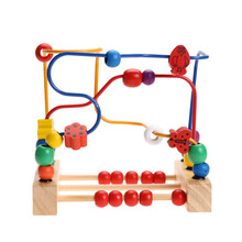 Baby font b Toy b font Wooden font b Toy b font Wooden Bead Maze Child