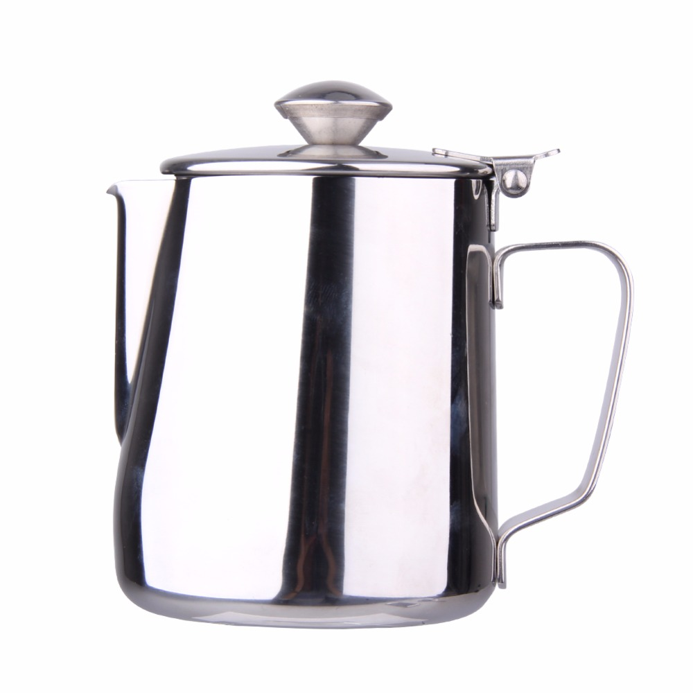 Stainless Steel Milk Coffee Frothing Pitcher Tea Jug Kitchen Thermo Cup Coffee Mug Milk Tea Pot