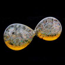 1Pc Small Transparent Bubble Sandglass Sand Clock Liquid Timer Decoration Gift