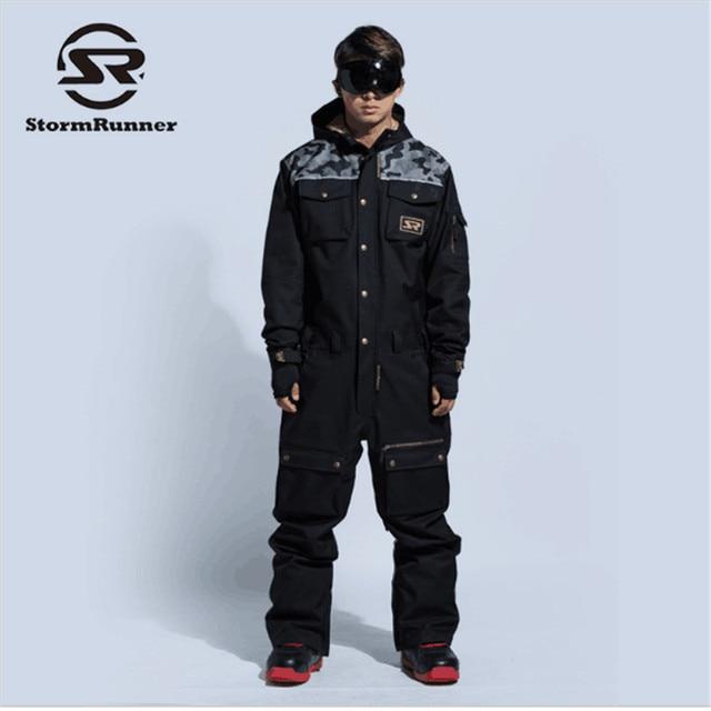 2018новый лыжный костюм мужской зимний непромокаемый толстый теплый сноуборд куртка цельный лыжный Комбинезон спортивный сноуборд и горные лыжи