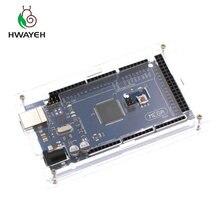 1 caixa acrílica transparente do brilho do cerco dos pces compatível para arduino mega 2560 caso r3