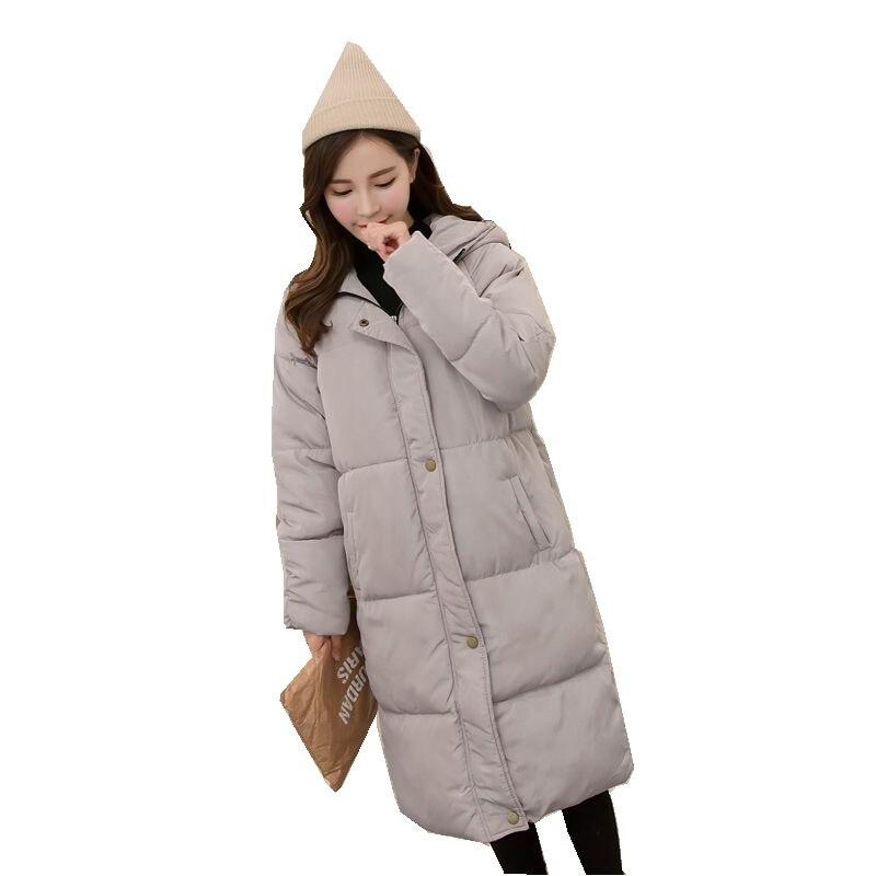 New Winter Women Cotton Jacket Hooded Thickening Super warm Medium long Coat Long sleeves Loose Plus