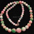 "cheap woman long jewerly new fashion free shipping charming Beautiful 6-14mm Multicolor Kunzite Beads Necklace 18""  W0047"