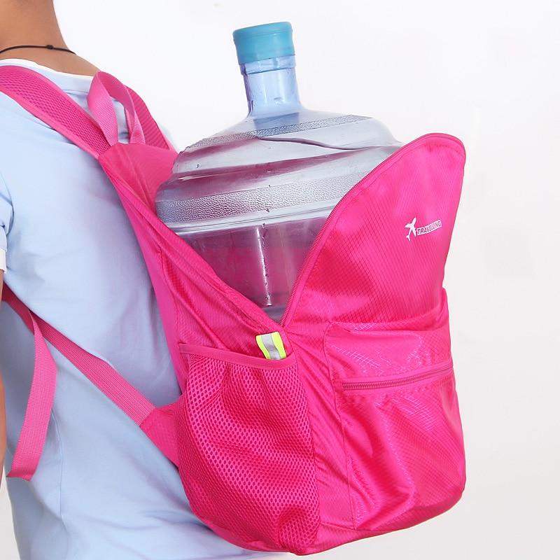 Izvelkamais ceļojuma mugursoma Augstas kvalitātes ūdensnecaurlaidīgs neilona rakstu salokāms mugursomas pakas soma Ceļojuma mugursoma var tikt pielāgota
