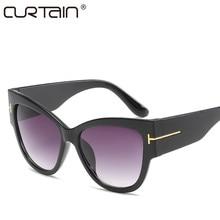 New Tom Fashion Brand Designer Cat Eye Women Sunglasses Fema