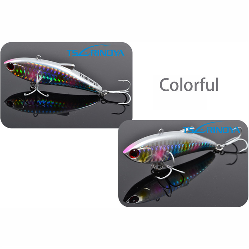 Trulinoya Sea Fishing VIB Lure  Laser Hard Bait Crankbait Wobbler Ocean Lake River Baits  Fishing Plastic 80mm 20g Hot Selling wldslure 1pc 54g minnow sea fishing crankbait bass hard bait tuna lures wobbler trolling lure treble hook