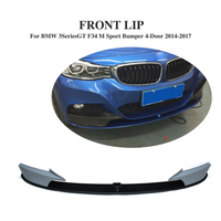 FRP Front Bumper Lip And Splitters Apron Spoiler for BMW 3 Series GT F34 M Sport Bumper 4 Door 2014 2017 Car Accessories