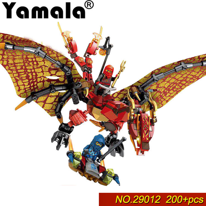 [Yamala]Compatible Legoing Ninjagoes 39012 312pcs building blocks Ninjago Flame fire Wyvern Dragon Figure Brick toy for children compatible with lego ninjago 9450 lele 79132 959pcs blocks ninjago figure epic dragon battle toys for children building blocks