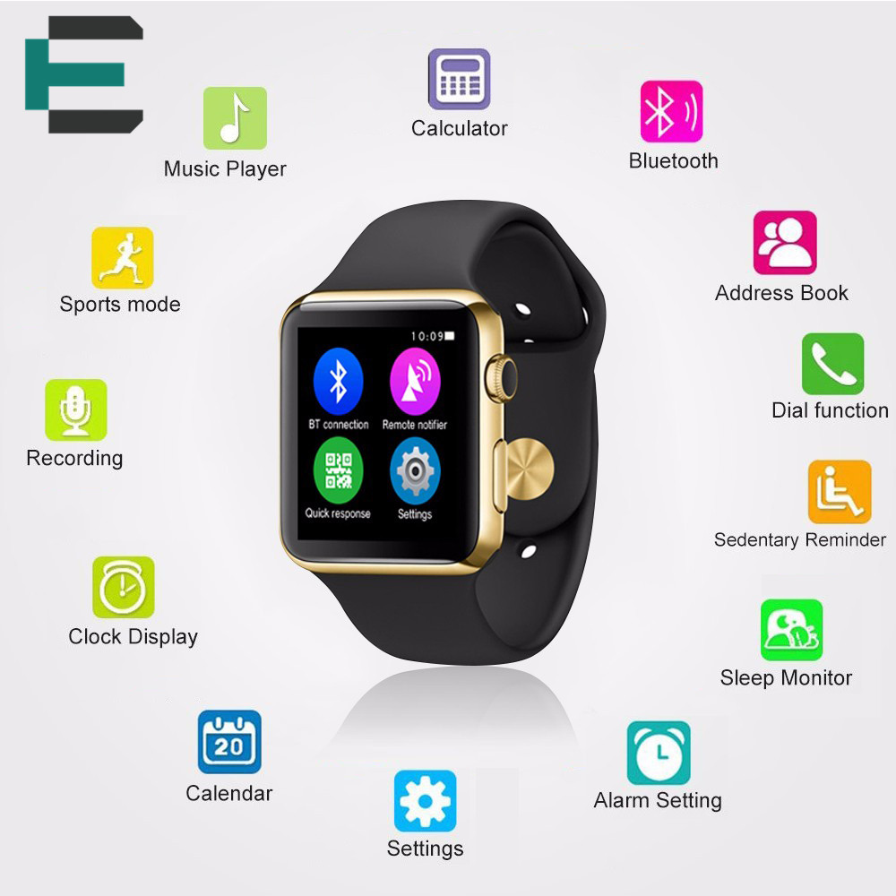 IWO 1 1 upgrade W51 font b Smartwatch b font PSG Heart Rate Monitor IP65 waterproof
