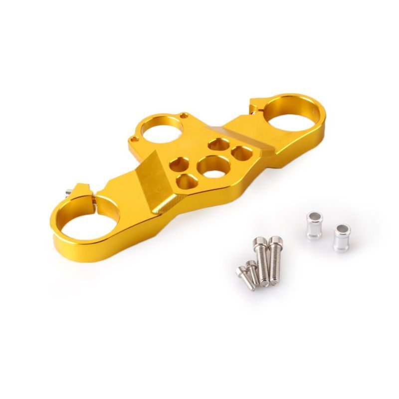 Motorcycle Front Upper Top Clamp Triple Tree Replacement For Honda CBR600RR CBR 600RR F5 2005 2006 Gold BlackMotorcycle Front Upper Top Clamp Triple Tree Replacement For Honda CBR600RR CBR 600RR F5 2005 2006 Gold Black