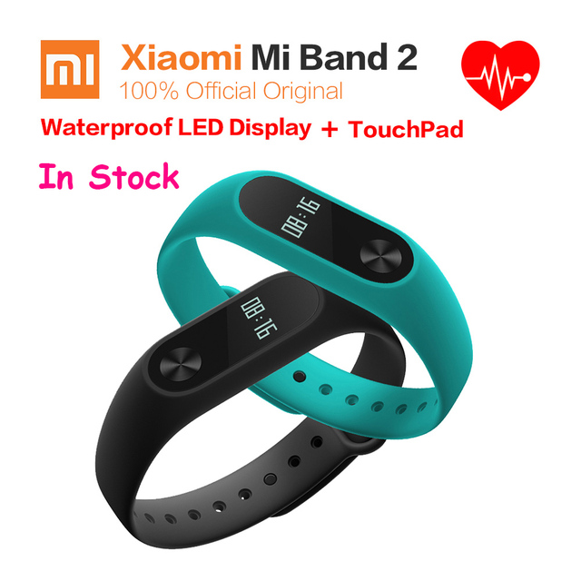 Xiaomi Miband 2 OLED Display Heart Rate Fitness 20-DAY Battery IP67 Smart Wristband Bracelet 100% Original  Xiaomi Mi Band 2