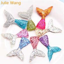 Julie wang 10 шт Разноцветные Подвески из смолы с хвостом русалки