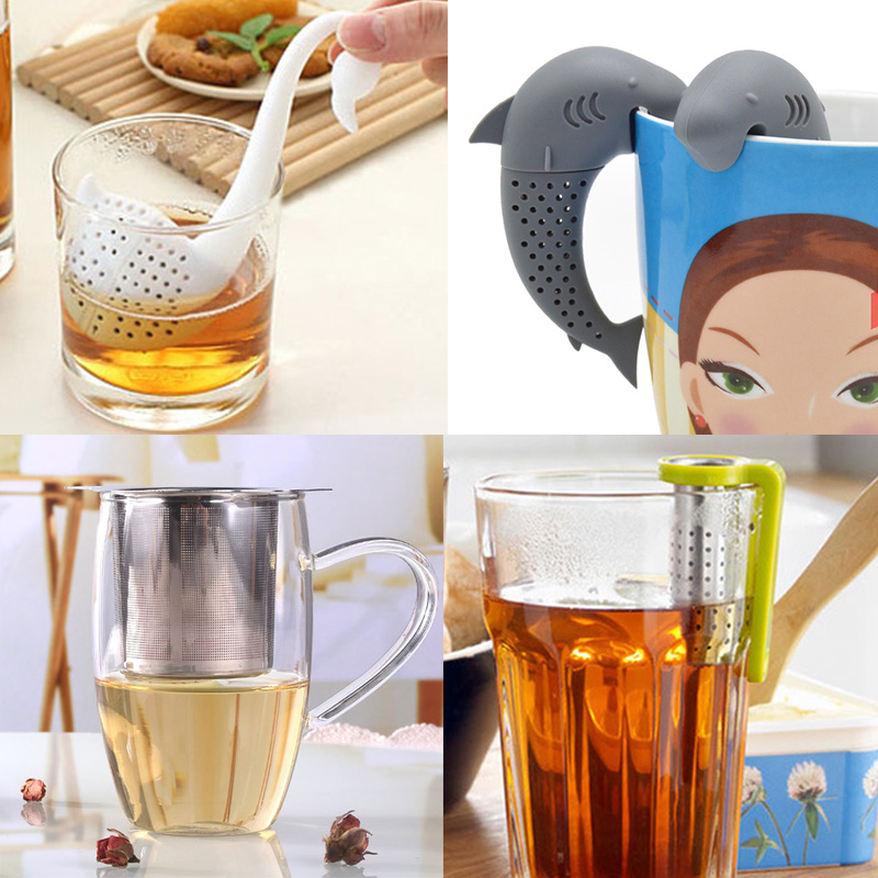 Mesh Tea Infuser Sieve For Tea Stainless Steel Tea Strainer Metal Bag Filter Coffee Herb Spice Filter Diffuser Handle Tea Ball