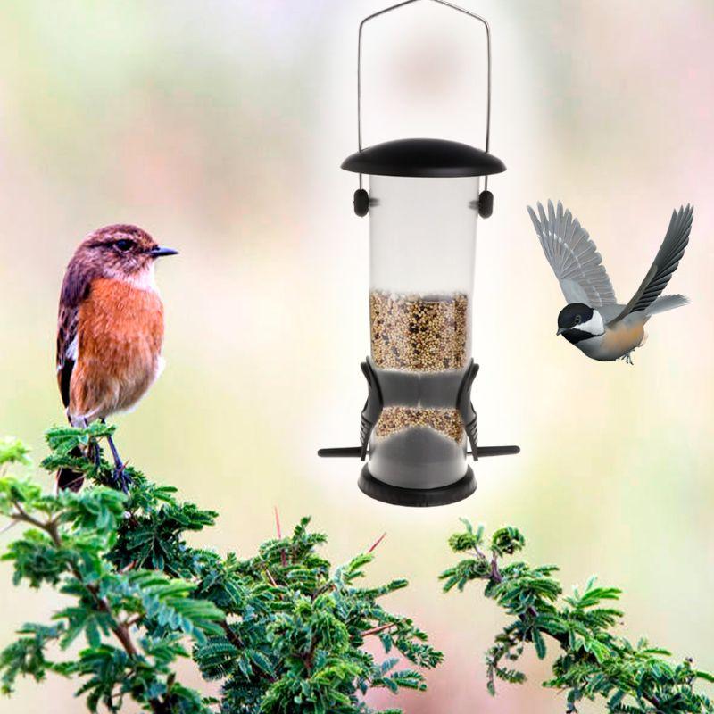 Bird Feeder Outdoor Wild Birds Feeding Garden Park Tree Hanging Food Container,