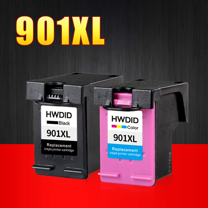 2PK 901 Cartridge Replacement for HP 901 XL Ink Cartridges for Officejet 4500 J4500 J4540