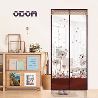 Door Screen Magnetic Stripe And Double Magnetic Block Anti Mosquito Magnetic Tulle Curtain Lovely Little Girl