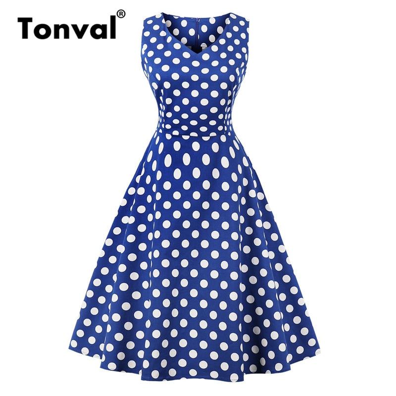 tonval rockabilly vintage azul marinho floral 01