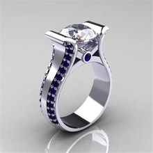 Modyle 925 Sterling Silver Rings For Women Bridal Wedding Anelli Trendy Jewellery Engagement CZ Stone Silver Jewelry(China)