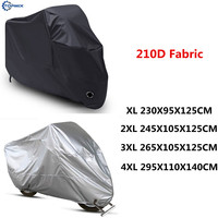 Waterproof Motorcycle Cover All Weather Outdoor Protection 210D Durable Motorbike Cover for Honda,Yamaha,Suzuki,Harley,BMW