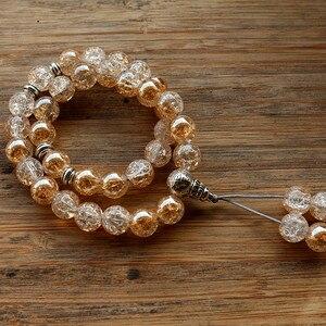Image 5 - New 10mm Glass Bead 33 Prayer Beads Islamic Muslim Tasbih Allah Mohammed Rosary for women men