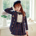 Princess sweet lolita skirt Bobon21 Original design College style British grid all-match Pleated skirt B1267